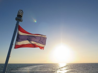 Thai flag horizon